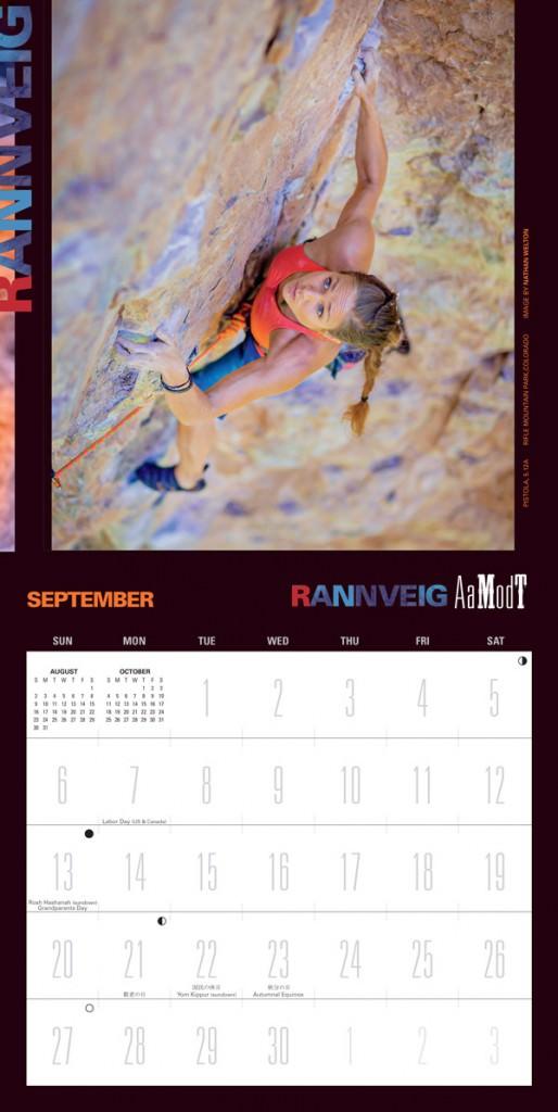 2015 Women of Climbing Calendar Rannveig Aamodt